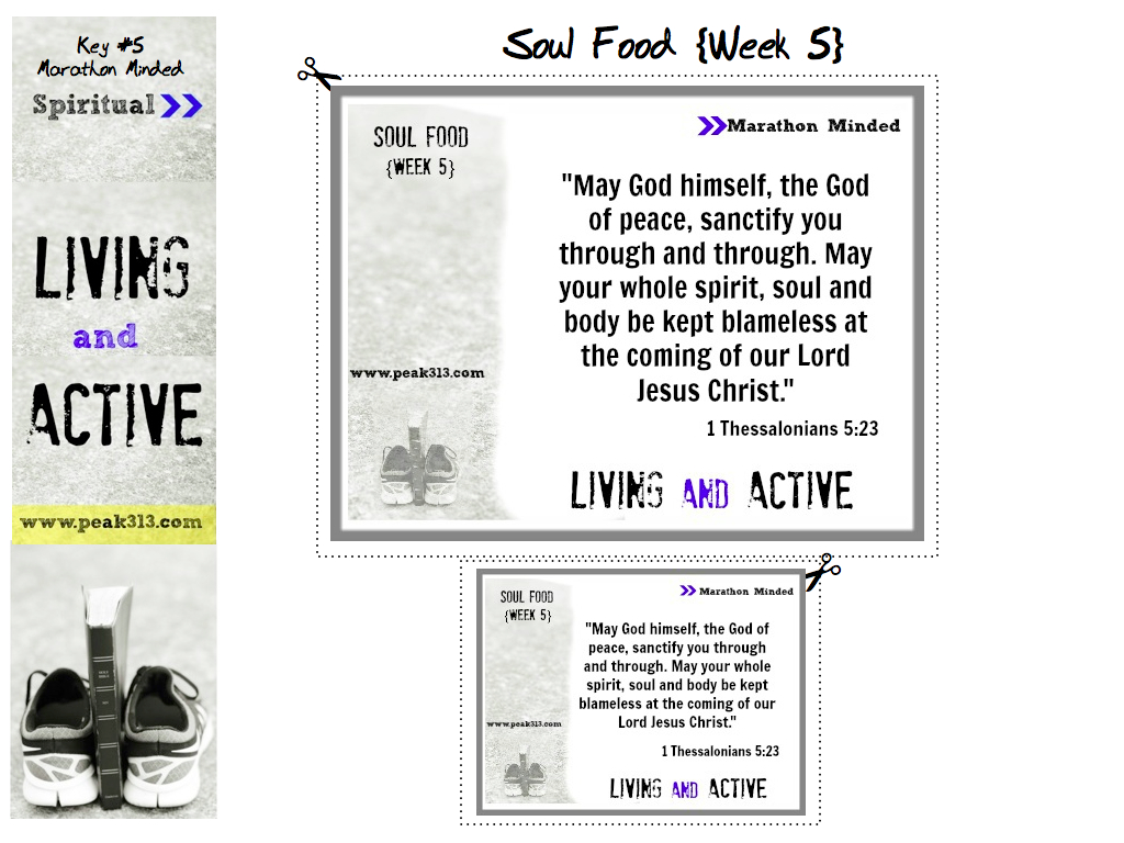 """Living and Active"" Soul Food: Week 5 (1 Thess 5:23) 