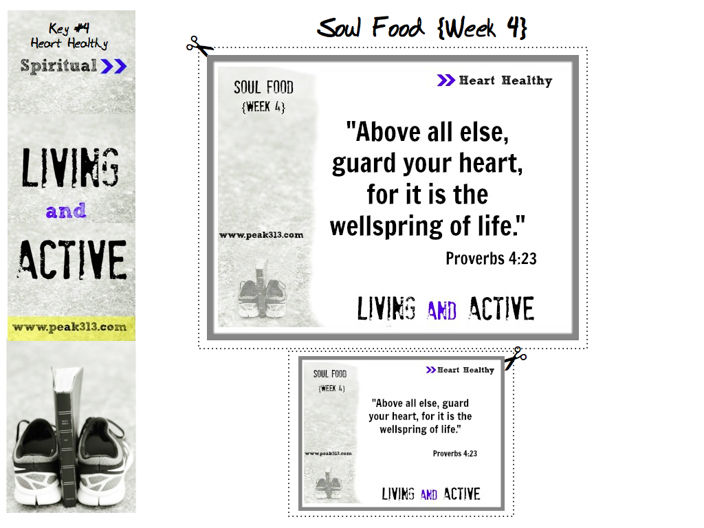"""Living and Active"" Soul Food (Week 4) Proverbs 4:23"