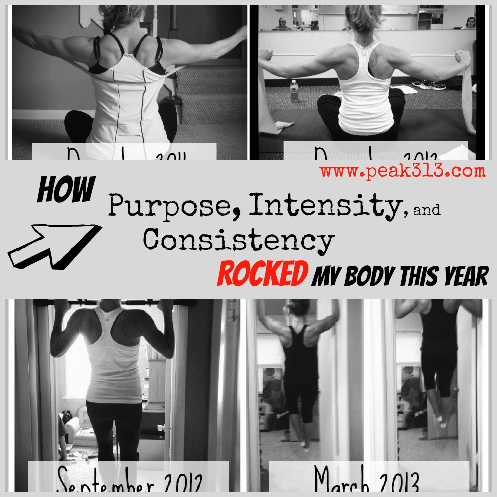 How Purpose, Intensity, and Consistency ROCKED my body this year | peak313.com