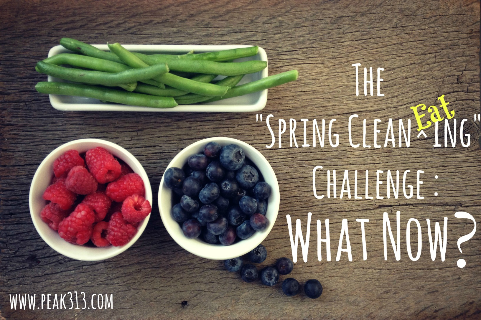 """The """"Spring Clean EATing"""" Challenge : What Now? (& check-in) : peak313.com"""