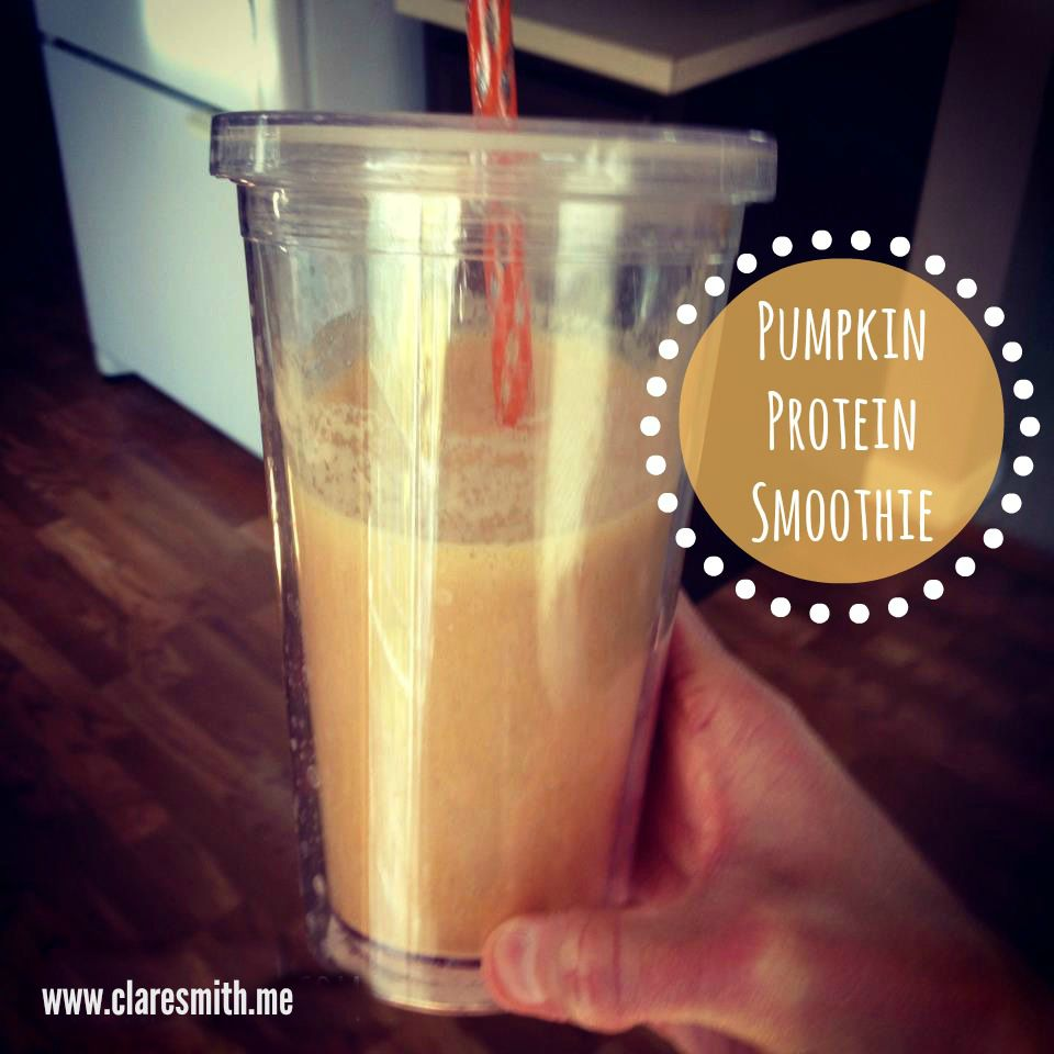 Pumpkin Protein Smoothie : www.claresmith.me