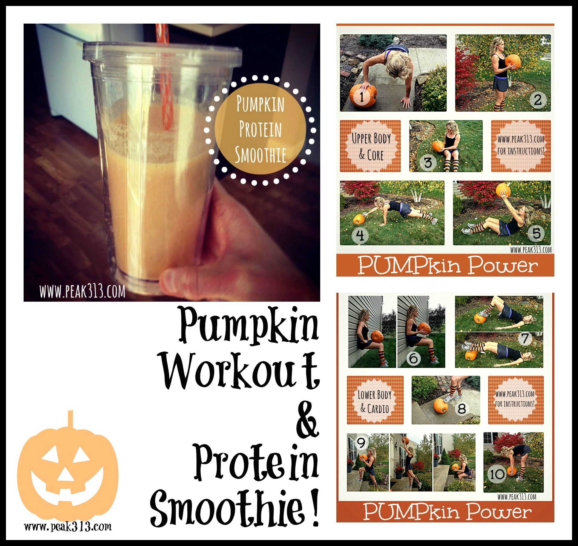 Pumpkin Workout & Protein Smoothie! | peak313.com