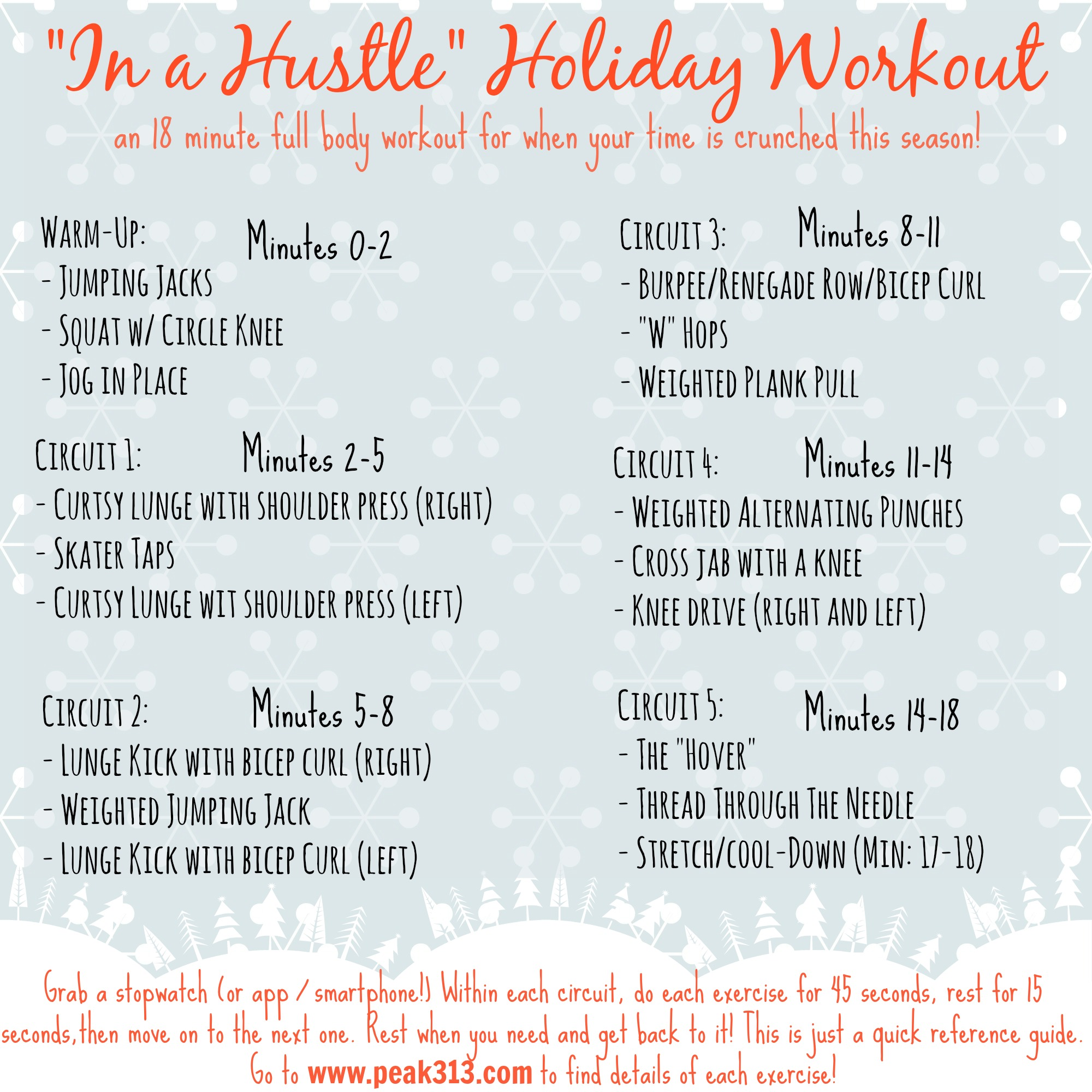 """In a Hustle"" 18 minutes holiday full body workout! 