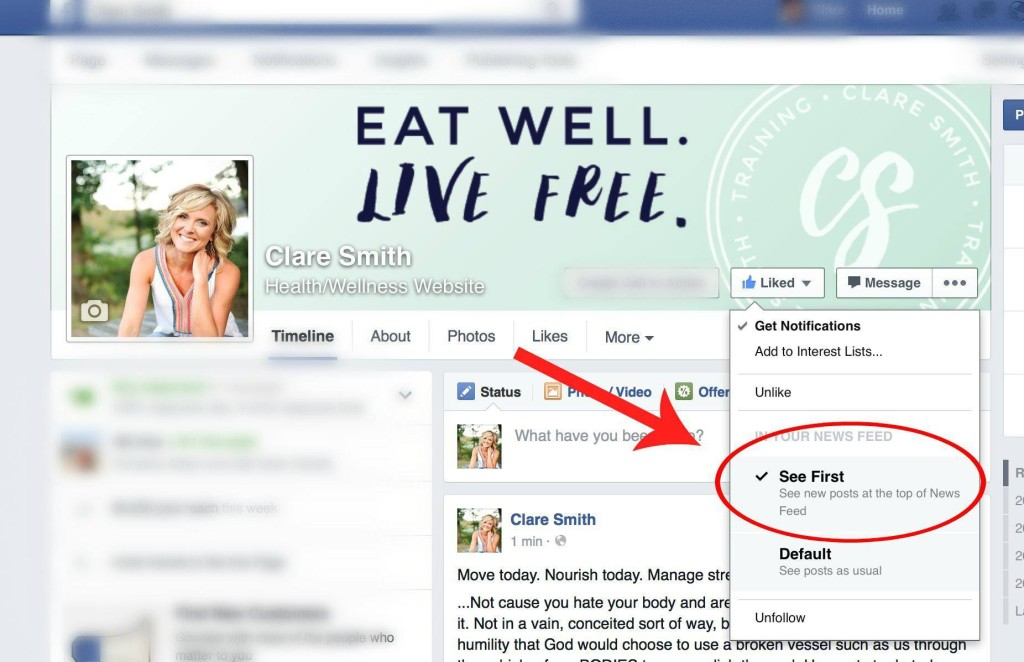Clare Smith: Facebook Tip