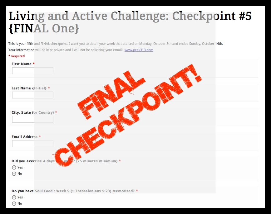 "The 5th ""Living + Active"" Challenge: FINAL Check-In!"