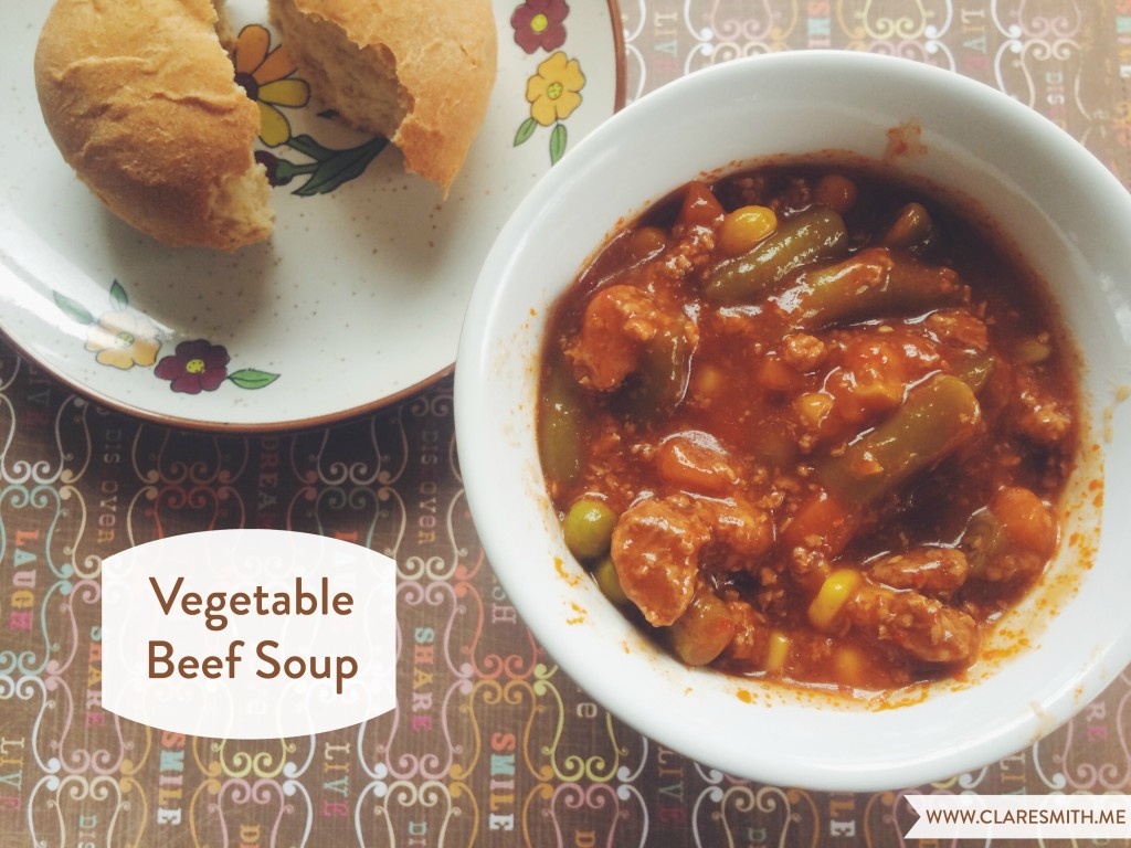 Vegetable Beef Soup: www.claresmith.me