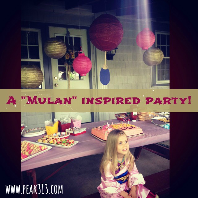 "A ""Mulan"" inspired party! 