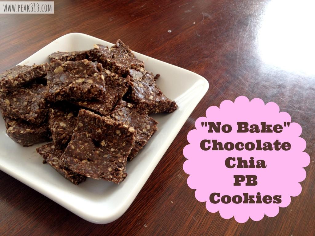 """""""No Bake"""" Chocolate Chia PB Cookies : peak313.com"""