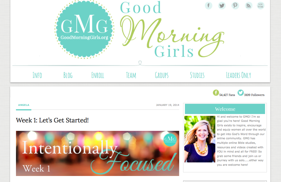 "Good Morning Girls ""Intentionally Focused"" : peak313.com"