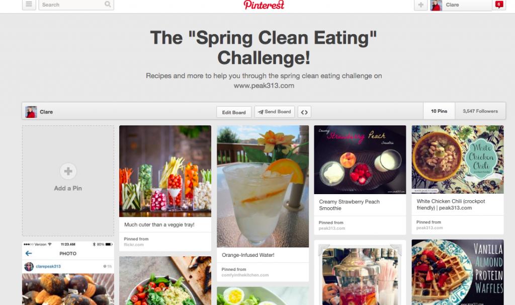 Spring Clean Eating Pinterest Board : peak313.com