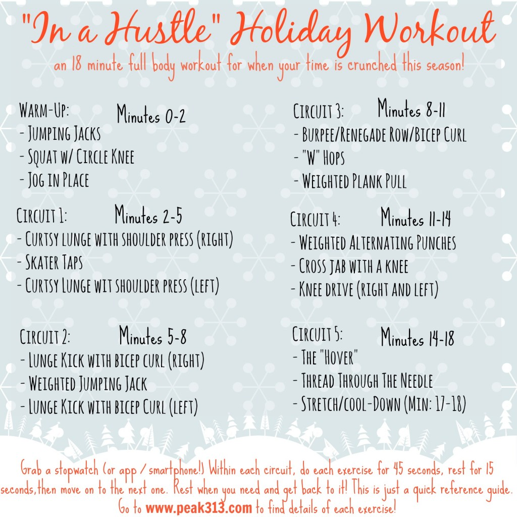 """""""In a Hustle"""" 18 minutes holiday full body workout! 