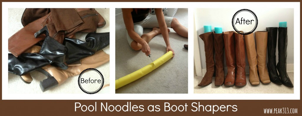 Pool Noodles as Boot Shapers : peak313.com
