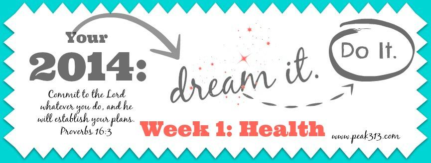 "2014 ""Dream it.Do it."" Vision Board:Week 1- Health | peak313.com"
