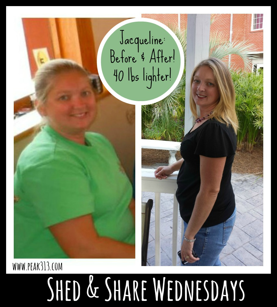 Shed & Share Wednesdays: Meet Jacqueline and find out how she lost over 40 lbs! | peak313.com