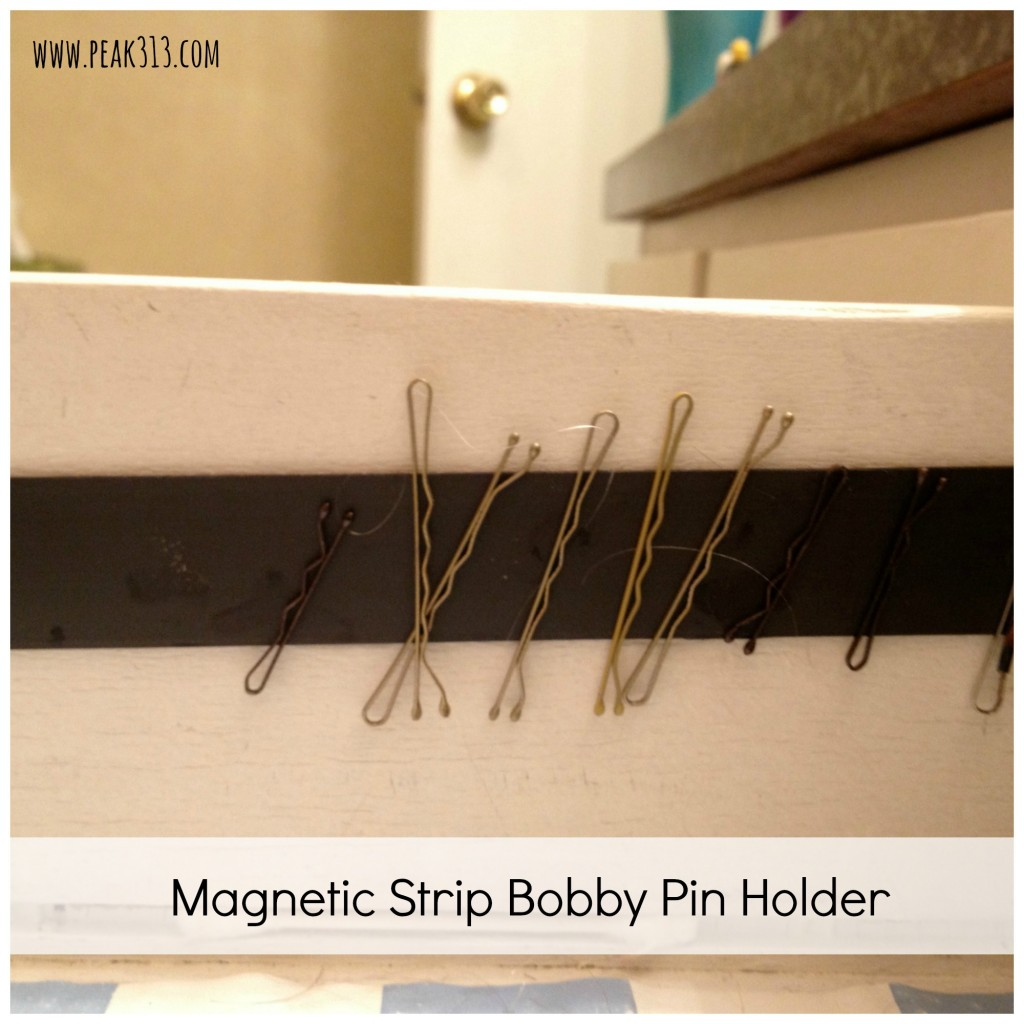Magnetic Strip Bobby Pin Holder : peak313.com