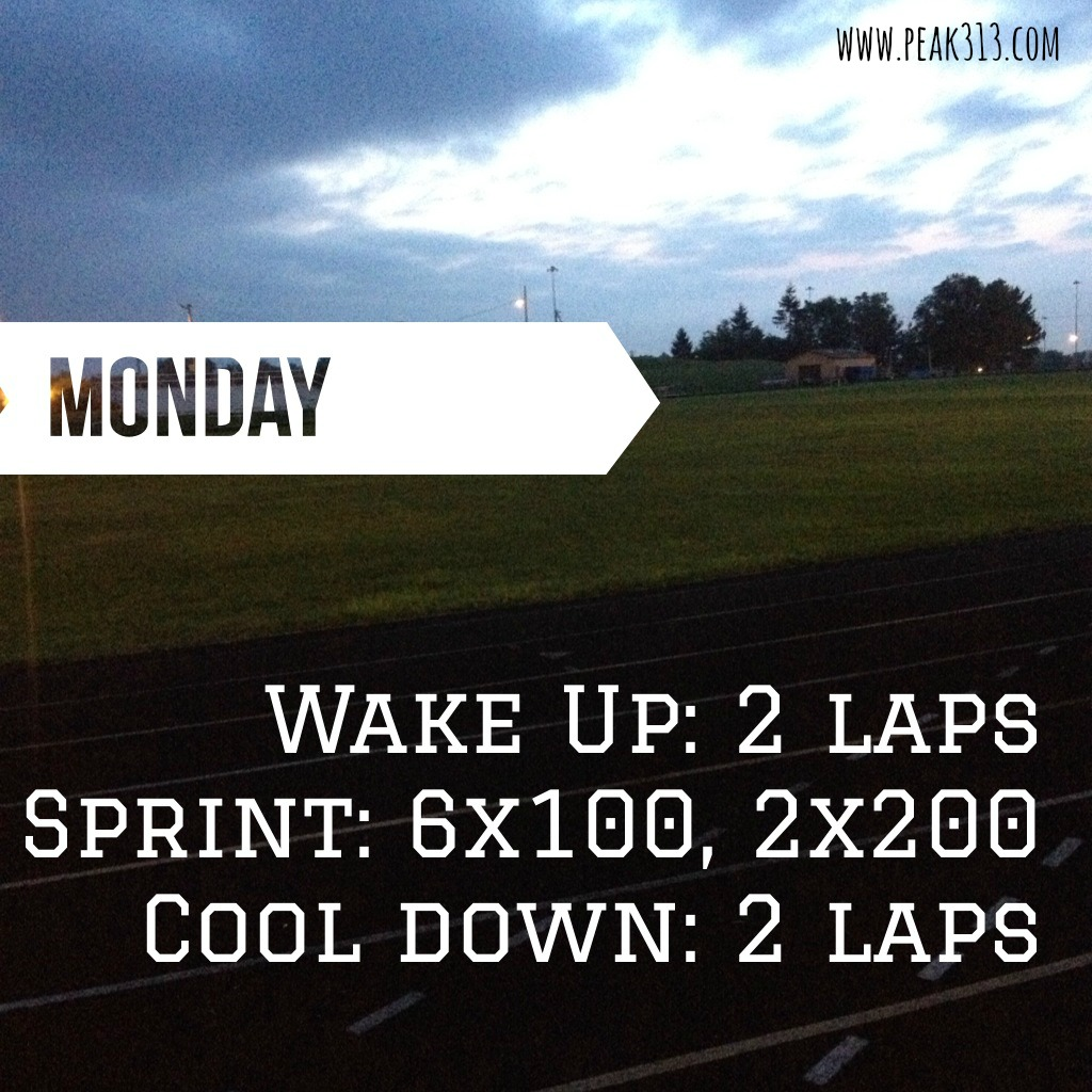Sample Sprint Track Workout : peak313.com