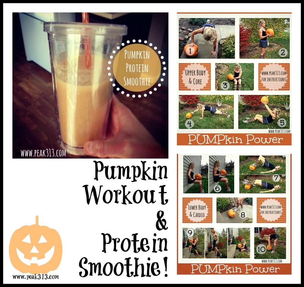 Pumpkin Workout & Protein Smoothie! | peak313.com