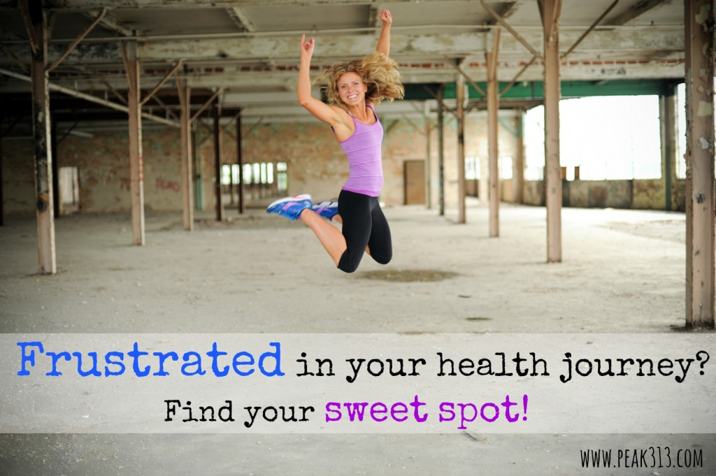 Frustrated in your health journey? Find your sweet spot! | peak313.com
