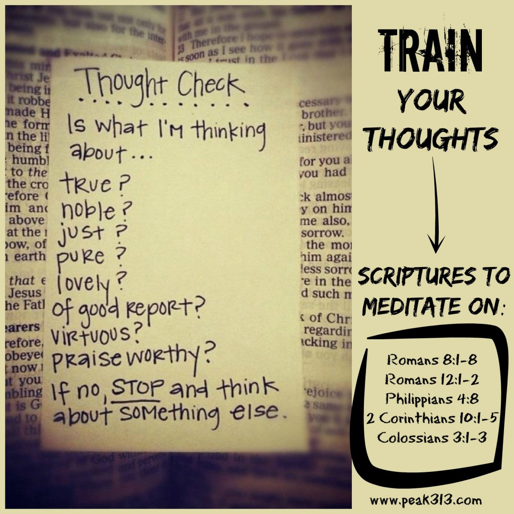 TRAINING your thoughts (and an object lesson for the kids!) : peak313.com